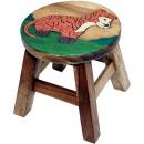 wholesale Children's Furniture: Kids stool Leopard , height: 25 cm, Ø 25 cm
