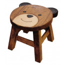 wholesale Children's Furniture: Kids stool Teddy Bear , height: 25 cm, Ø 25 cm