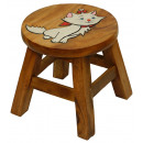 wholesale Children's Furniture: Stools White Kitten , H .: 25 cm, Ø 25 cm