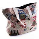 nagyker Kézi táskák: Tote Bag 3 baglyok a 3 ág , ca. 48 x 38 cm