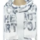 Großhandel Fashion & Accessoires: Schal, 90 x 180 cm, hellgrau