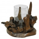 wholesale Candles & Candleholder: Tealight holder, root with wind light, Ø 20 cm