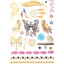 groothandel Sieraden & horloges: Tattoo Sticker Butterflies , groot, tijdelijke