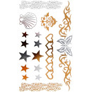 wholesale Piercing / Tattoo: Tattoo Sticker heart, star, conch , small, t