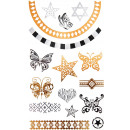 Tattoo Sticker Schmetterlinge und Sterne , klein,