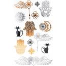 grossiste Piercing / Tatouage: Autocollant de tatouage main de Fatima ou petite