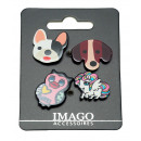 Pins, Bottoni, set di 4