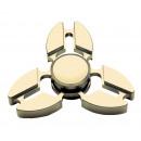 Ręcznie fidget palec spinner, aluminium, złoto