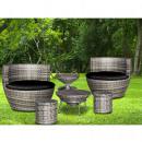 Kültéri bútorkészlet 9 db, tojás alakú kerti bútor