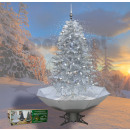 wholesale Light Garlands: Snowing Christmas tree silver