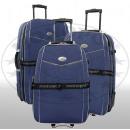 mayorista Maletas y trolleys: Nylon equipaje Juego 3 piezas de color azul oscuro