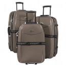 wholesale Suitcases & Trolleys: Nylon luggage set 3 pcs Bali brown