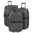 mayorista Maletas y trolleys: Nylon equipaje Juego 3 pcs negro Bali