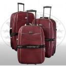 ingrosso Valigie &Trolleys: Bagaglio Nylon 3 pz rosso Bali