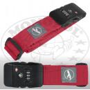 Großhandel Taschen & Reiseartikel: Koffergurt mit TSA Zahlenschloss rot