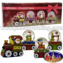 grossiste Boules de neige: Snow Globe train 4pcs / Noël