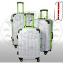 Poly-ABS-Kofferset 3tlg Odessa weiß
