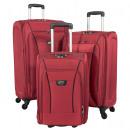 Großhandel Koffer & Trolleys: Nylon-Kofferset 3tlg Kopenhagen rot