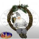 Weihnachtsmann Ulf 30cm Kranz