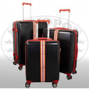 Großhandel Koffer & Trolleys: ABS-Kofferset 3tlg Korsika rot