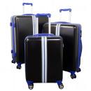 Großhandel Koffer & Trolleys: ABS-Kofferset 3tlg Korsika blau