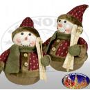 Decoratieve sneeuwpop 35cm / Kerst