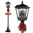 Großhandel Windlichter & Laternen: Schneiende LED  Laterne 180cm Motiv Baum