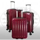 -Polycarbonat  Kofferset 3tlg Frankfurt rot