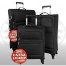 Nylon-Kofferset 3tlg Sizilien schwarz