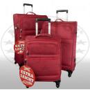 Nylon-Kofferset 3tlg Sizilien rot
