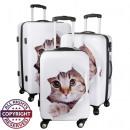 Polycarbonat-Kofferset 3tlg Katze