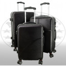 PET-Kofferset 3tlg Aruba schwarz
