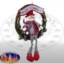 Schneemann im Kranz 30cm - Weihnachtsdeko