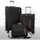 ingrosso Valigie &Trolleys: Nylon Travel Set 3 pezzi nero Maui