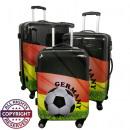 wholesale Puzzle: Polycarbonate  luggage set 3tlg football