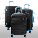 Großhandel Koffer & Trolleys: ABS-Kofferset 3tlg Santorin blau
