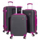 ABS-Kofferset 3tlg Santorin fuchsia