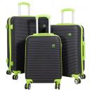 ABS luggage set 3 pieces Santorini green