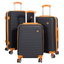 wholesale Suitcases & Trolleys: ABS suitcase set 3 pieces Santorini orange