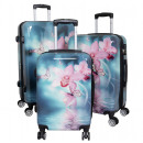 groothandel Koffers & trolleys: Polycarbonaat koffer set 3-delig Orchidee
