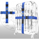 Großhandel Reiseartikel: Kreuz-Koffergurt 2-Wege blau