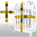 Großhandel Taschen & Reiseartikel: Kreuz-Koffergurt 2-Wege gelb