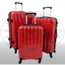 Polycarbonat-Kofferset 3tlg Miami rot