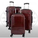 Polycarbonat Kofferset 3tlg Wellington rot