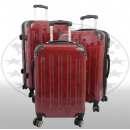Großhandel Koffer & Trolleys:-Polycarbonat  Kofferset 3tlg Mauritius II rot