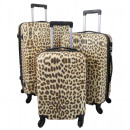 ABS Kofferset 3tlg Leopard