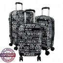 Großhandel Koffer & Trolleys:-Polycarbonat  Kofferset 3tlg City II schwarz