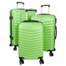 ABS-Kofferset 3tlg Bora grün