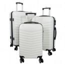 Großhandel Koffer & Trolleys: ABS-Kofferset 3tlg Bora weiß