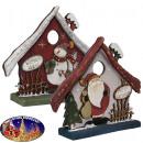 Pajarera de decoración navideña